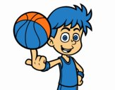 A junior basketball player