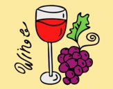Coloring page Red wine painted byLornaAnia