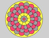 Coloring page Mandala 23 painted byLornaAnia