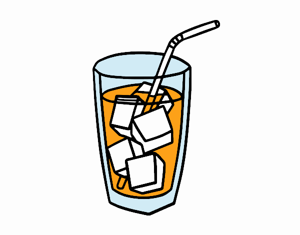 A glass of soda