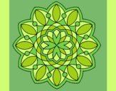 Coloring page Mandala 3 painted byLornaAnia