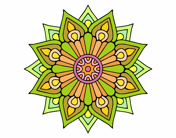A floral flash mandala