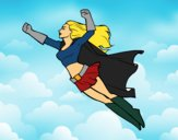 Super girl flying