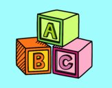Educational cubes ABC