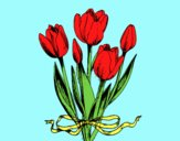 Tulips with a bow