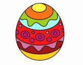 A patterned easter egg