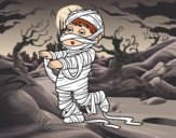 Child dressed as a mummy