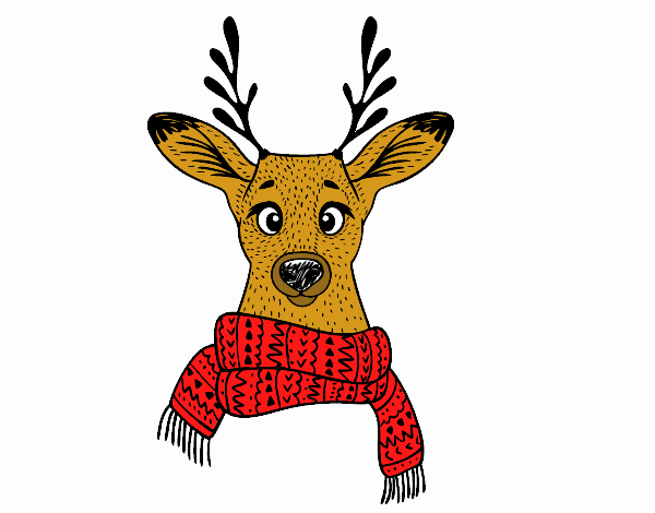 Stag with scarf