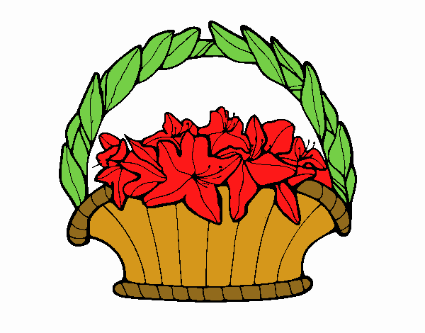 Basket of flowers 4