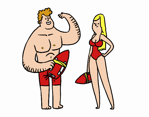 life guards talking