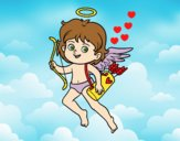 Cupid with his magic bow