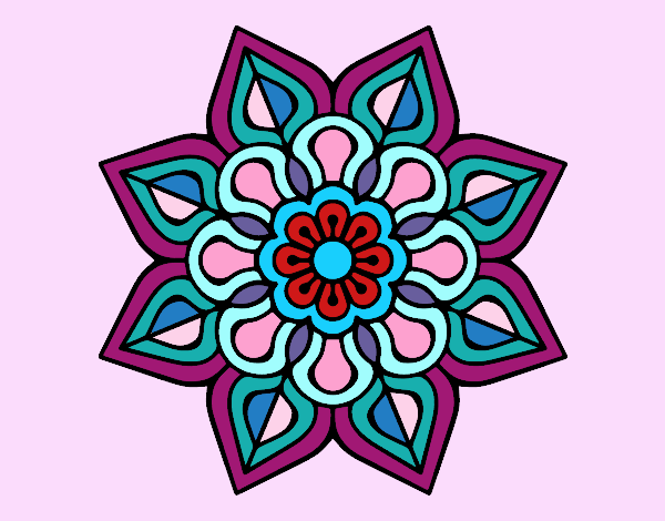 Simple flower mandala