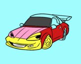 Sports car with aileron
