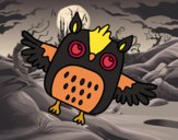 Flying Halloween owl