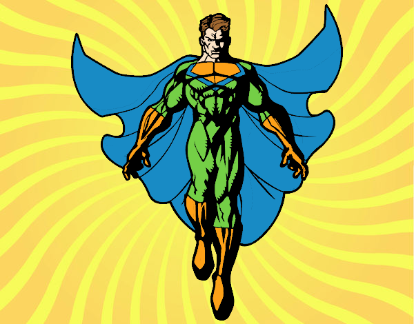 A Superhero flying