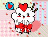 Cupcake kawaii with tie