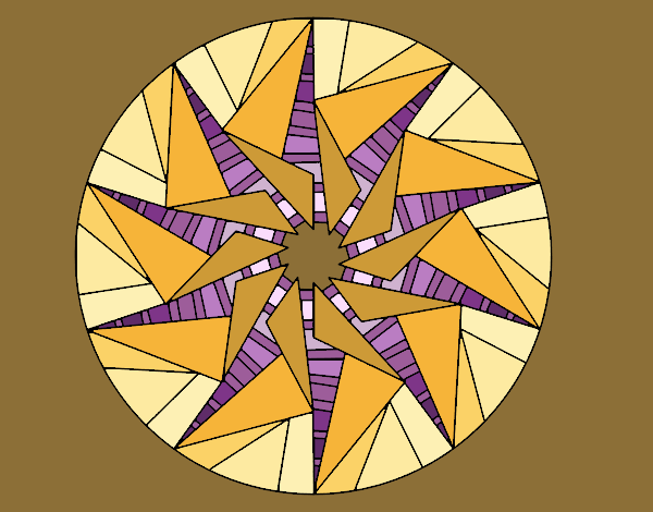 Mandala triangular sun