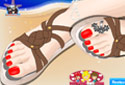 Play to Summer sandals of the category Girl games